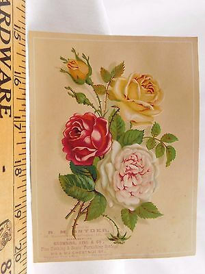 Embossed Victorian Trade Card R.M Snyder Browning King & Co Fine Clothing #L