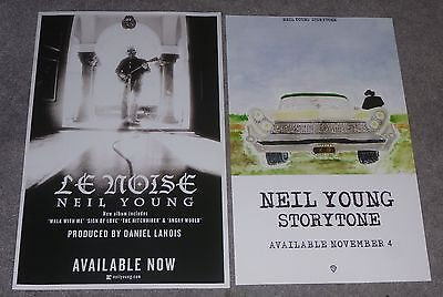 NEIL YOUNG LE NOISE & STORYTONE ORIGINAL PROMO POSTER LOT 11x17 inches CSNY