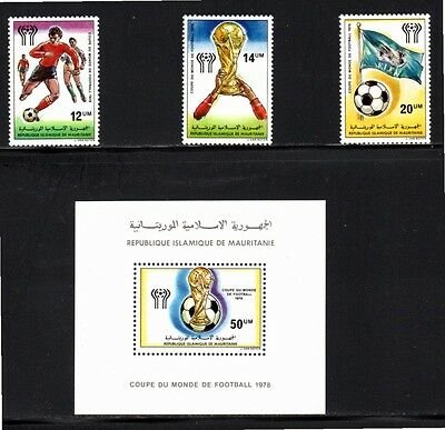 Mauritania 1978 World Cup Football Championships Argentina SG 581/4 MUH