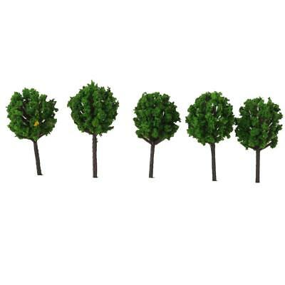 50pcs Model Train Trees Scenery Landscape Railroad Layout Green 1:300
