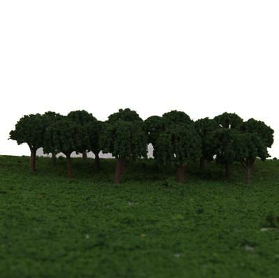 50pcs Model Train Trees Ball Shaped Scenery Landscape Layout 1/500 Scale