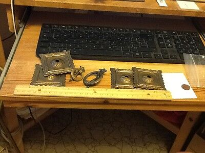 Vintage Drawer Pulls - Various Set of Brass  Random Hardware lot F