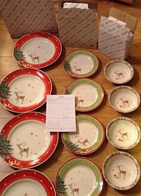 Huge Lot of SPODE China CHRISTMAS JUBILEE 12 DISHES=Four Place Settings NEW