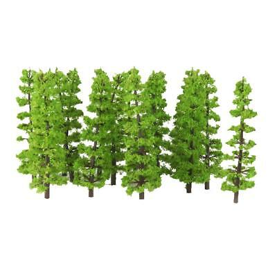 20x Plastic Fir Trees Model Train Railroad Layout Scenery Landscape HO 1:100