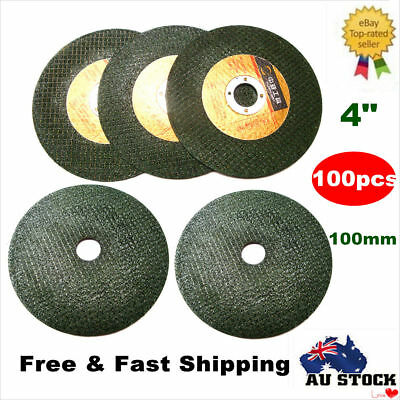 "100x 4"" 100mm CUTTING DISC Flap WHEEL Thin Angle Grinder Cut Off for Metal Steel"
