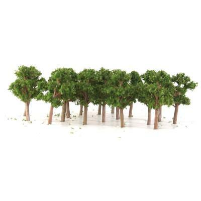 50x Banyan Trees Model Train Scenery Landscape Layout Scale 1:200 Dark Green