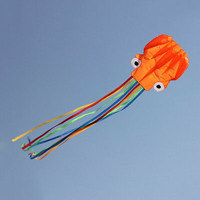 4M Single Line Stunt Red Octopus Power Sport Flying Kite Outdoor Activity Toy FJ