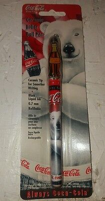 Coca-Cola Ceramic Roller Ball Pen - Coca-Cola Polar Bear Pen - Coke Pen - NIP