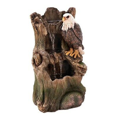 NEW Large American Bald Eagle Water Fountain Lawn Patio Garden Western Decor 2ft