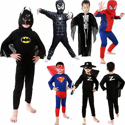 Halloween Kids Boy Superhero Fancy Dress Girls Cosplay Costume Outfit Clothes