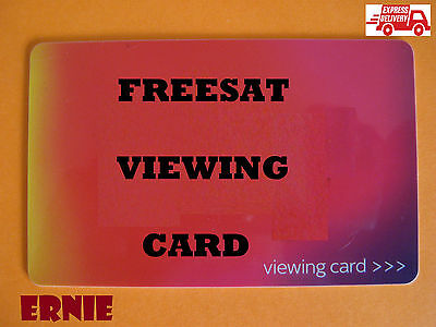 ACTIVATED RED VIEWING CARD FOR FREESAT HD CHANNELS. PIN clear instructions.2016