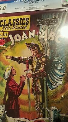 1950 CLASSICS ILLUSTRATED #78 JOAN OF ARC first ed.- CGC UNIVERSAL GRADE 9.0
