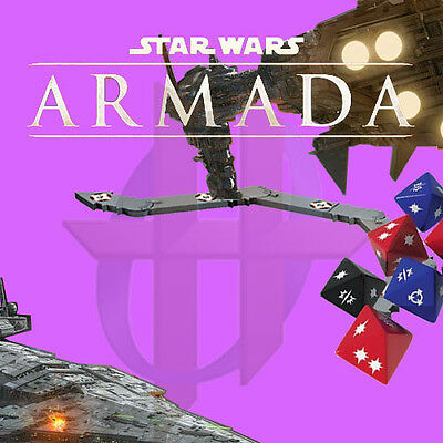 Star Wars Armada - Damage Deck, Dice, Manuever Tool, Obstacles