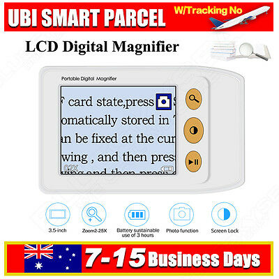 """3.5"""" LCD Portable Electronic Digital Magnifier Reading Aid for Low Vision 25x-2x"""