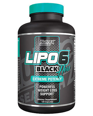 Nutrex Lipo 6 Black Hers 120 caps Fat Burner Weight Loss
