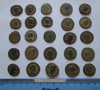 Lots of 25 Uncleaned Roman  Bronze Coins high Quality