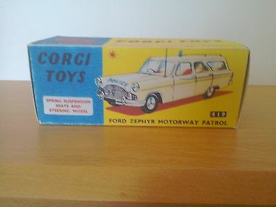 Corgi No 419 Ford Zephyr Motorway Patrol Car  Replica Box Only