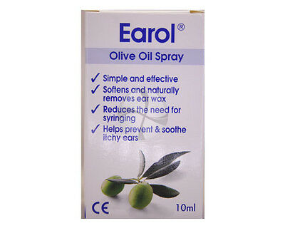 Earol Ear Wax Remover Olive Oil Spray 10 ml Free Delivery natural medical grade