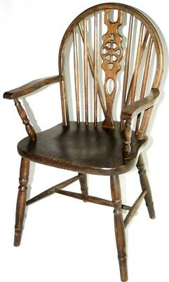 19th Century Elm & Ash Wheel-back Windsor Chair - FREE Shipping [PL2692]