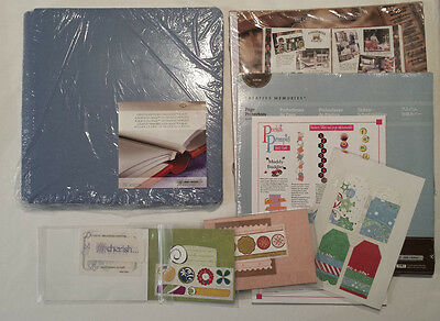 Creative Memories - 12 x 12 Pale Blue Album with Pages, Protectors and extras