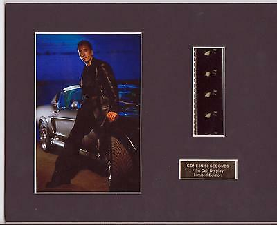 Gone In 60 Seconds Film Cell Display Limited Edition Very Rare