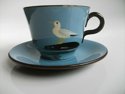 Babbacombe Pottery Seagull Design Cup and Saucer