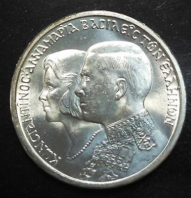 Greece,30 Drachmai, 1964, Silver, Constantine and Anne-Marie Wedding
