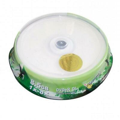 10 Pieces Inkjet Printable 8X DVD+R DL Double Layer Recordable Disc Media 8.5GB