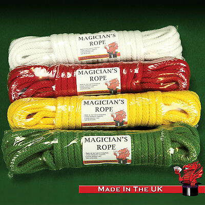 Cotton Magician's Rope - Made in the UK - 10mm Diameter - Rope Routine Prop