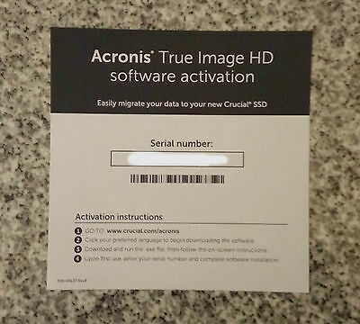 Acronis True Image HD 2015 Backup Software Activation License Key