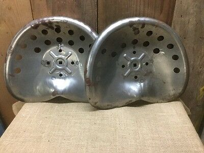 Two Metal Tractor Seats New