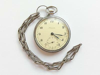 Soviet / USSR Pocket watch - MOLNIJA - OPEN FACE 18 JEWELS Cal 3602