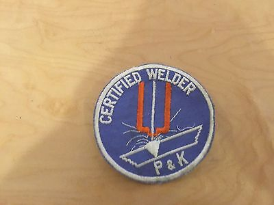 """work patch,  welding""""certified welder """" patch, new old stock 1970's"""