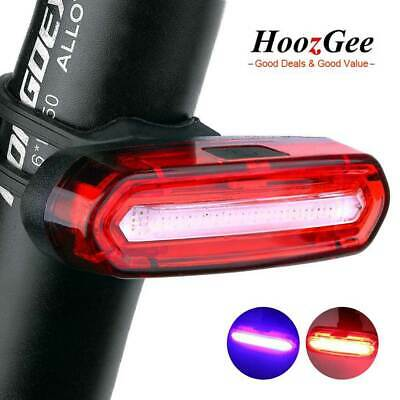 USB Rechargeable Bike Bicycle Cycling Front Rear Light LED Tail Lamp 4 / 6 Modes