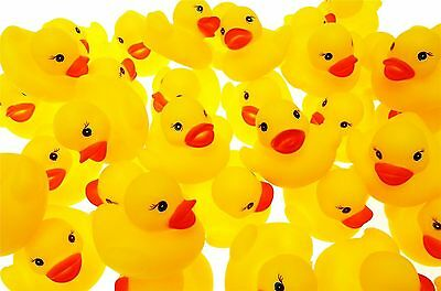 45 x Mini Rubber Ducks Water Toy Party Favour Water Bathtime Baby High Quality