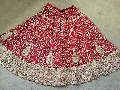 Pakistani Indian Asian Wedding Lengha Red Traditional Nikkah Wear REDUCED!!!
