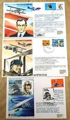 Australia Air related, 3 flown covers - 1978-9 anniversaries mix