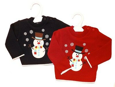baby christmas jumper-snowman