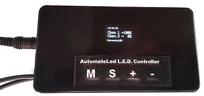 Aquarium LED Controller. Dimmer, Timer, Clock. 2 Channels Sun/moon