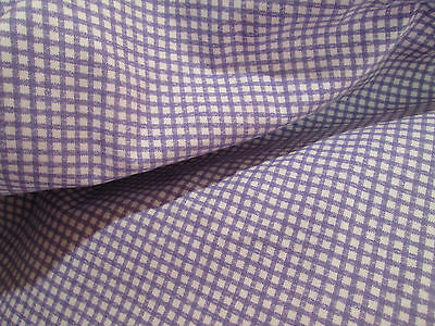 WAMSUTTA King Fitted Sheet ~ Purple GINGHAM Classic Deep Pocket Checkered