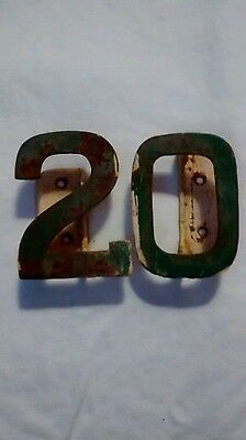 vintage metal house numbers #20