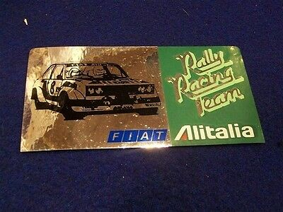 Alitalia Rally Racing Team Fiat Abarth 131 Adesivo Sticker Metallizzato Rallye