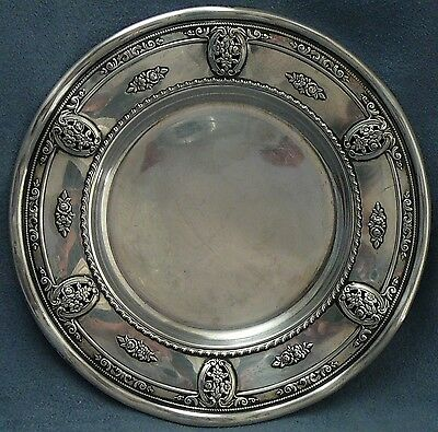 Wallace Rose Point Sterling Bread Plate Deluxe