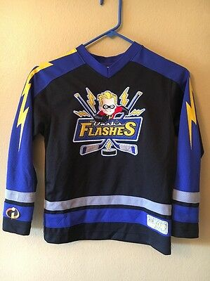 WDW Disney Dash's Flashers 04 Incredibles Embroidered Hockey Jersey Youth M