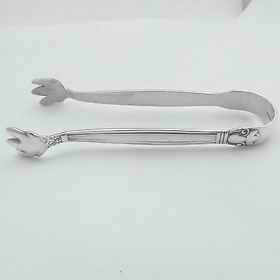 Antique Manchester Sterling Silver Sugar Ice Tongs Copenhagen Pattern Circa 1910