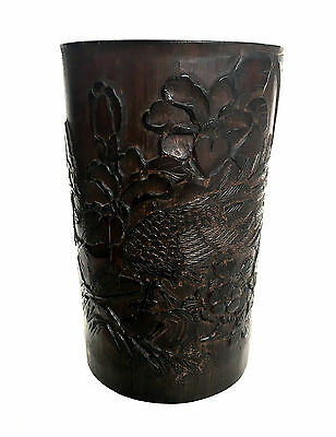 CHINESE Republic Bamboo Carved Brush Pot Jar