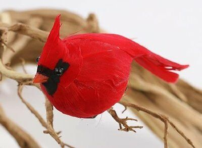 Factory Direct Craft Package of 12 Bright Red Artificial Cardinal Birds for Tree