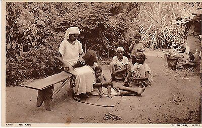 East Indian, Curacao on Trinidad and Tobago Postcard w/ Message