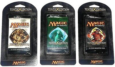 MTG ~ 10th Edition Core Set - Booster Pack (3 Stk.) ~, engl., neu (sealed) !