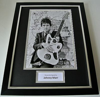 Johnny Marr SIGNED FRAMED Photo Autograph 16x12 display Smiths Music Guitar COA